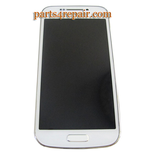 Complete Screen Assembly with Bezel for Samsung Galaxy S4 zoom C101 -White