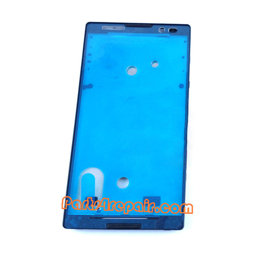 Front Housing Cover for Sony Xperia C S39H -Black