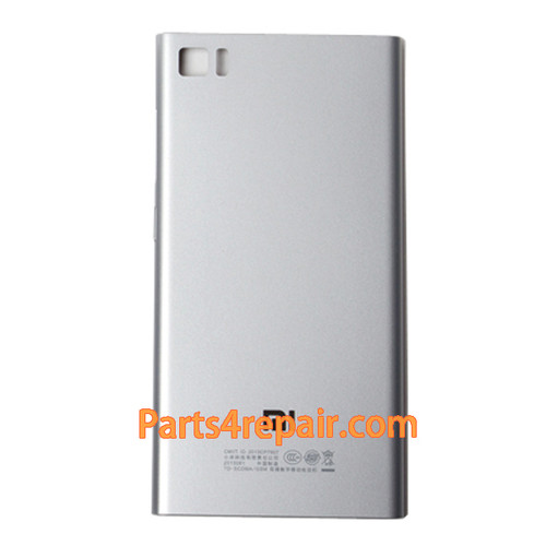 Back Cover for Xiaomi M3 -Silver