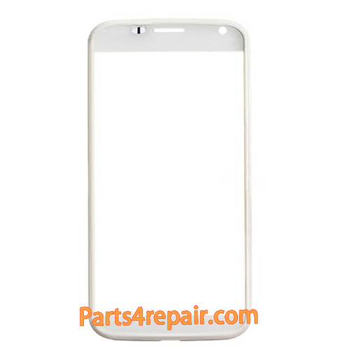 Front Glass with Bezel for Motorola Moto X -White from www.parts4repair.com