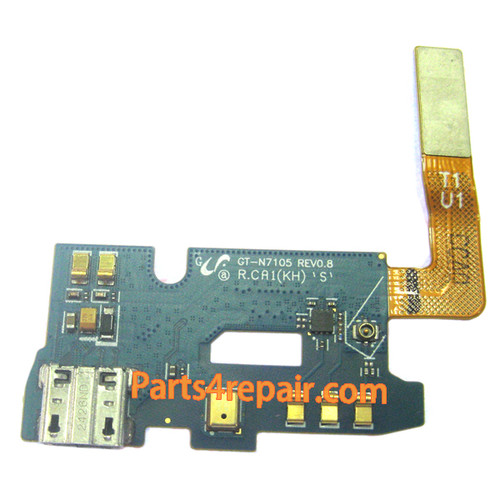Dock Charging Flex Cable for Samsung Galaxy Note 2 N7105 from www.parts4repair.com