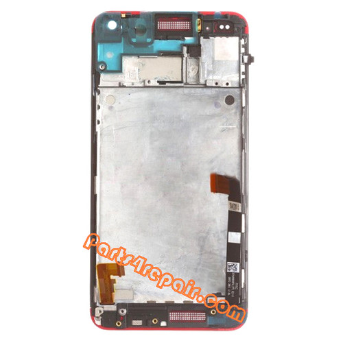 Complete Screen Assembly with Bezel for HTC One -Red