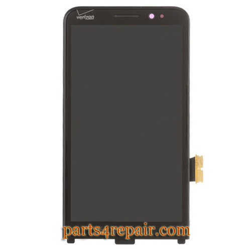 Complete Screen Assembly with Front Bezel for BlackBerry Z30 -Black (for Verizon)