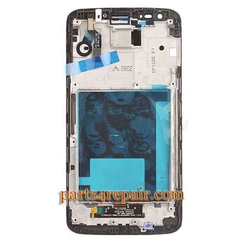 Complete Screen Assembly with Bezel for LG G2 D802  -Black