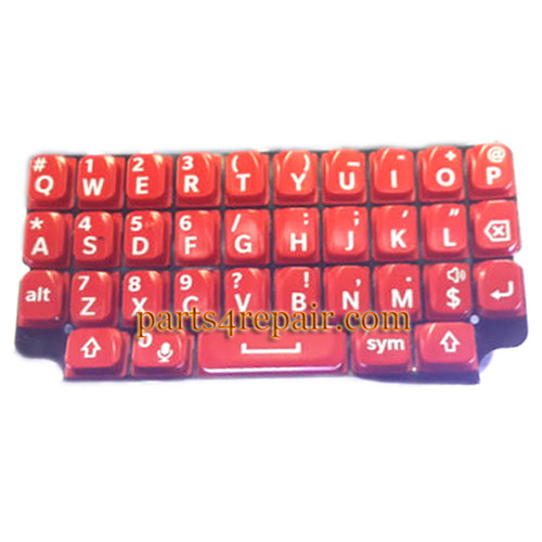 Keypad Membrane for BlackBerry Q5 -Red