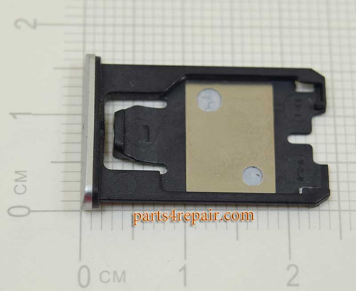 SIM Tray Holder for Nokia Lumia 925 -Silver from www.parts4repair.com