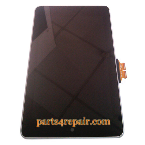 Asus Google Nexus 7 Complete Screen Assembly with bezel from www.parts4repair.com