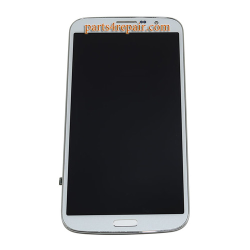 Complete Screen Assembly with Bezel for Samsung Galaxy Mega 6.3 I9200 -White