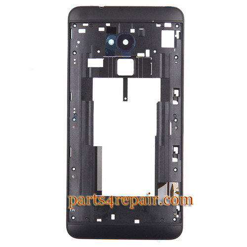 Middle Cover for HTC One Max -Black from www.parts4repair.com
