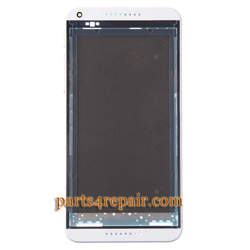 Front Housing Cover with Side Keys for HTC Desire 816 -White from www.parts4repair.com