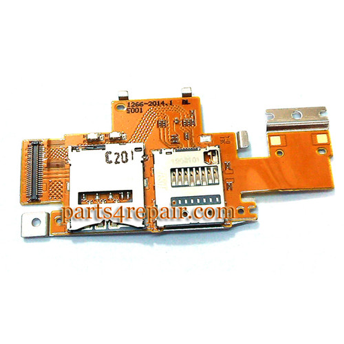 SIM Connector Board for Sony Xperia Table Z (Used) from www.parts4repair.com
