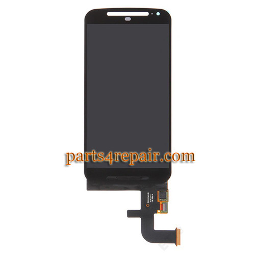 Complete Screen Assembly for Motorola Moto G2 -Black from www.parts4repair.com