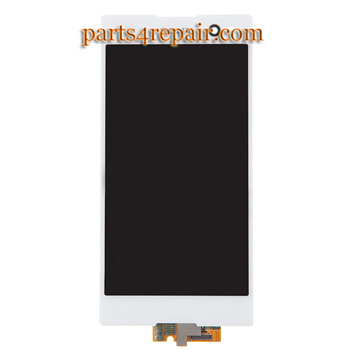 Complete Screen Assembly for Sony Xperia C3 S55 -White
