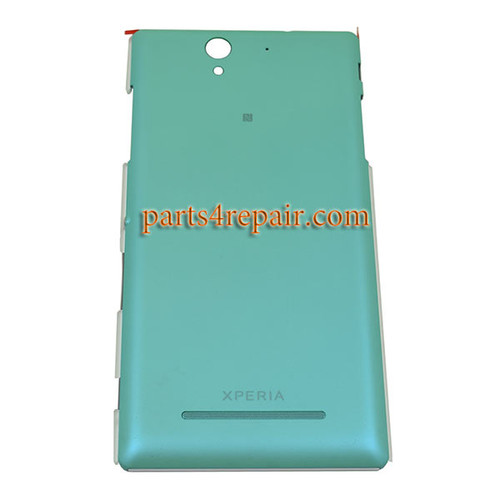 Back Cover with Side Keys for Sony Xperia C3 D2533 -Green from www.parts4repair.com