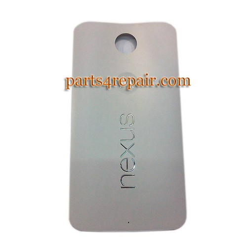 Back Cover for Motorola Nexus 6 -White