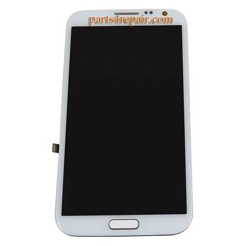 Complete Screen Assembly with Bezel OEM for Samsung Galaxy Note II N7100 -White