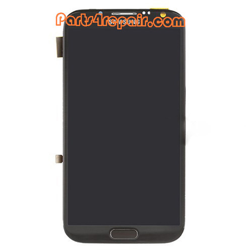 Complete Screen Assembly with Bezel OEM for Samsung Galaxy Note II N7100 -Gray