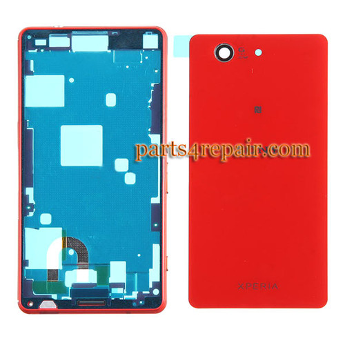 Full Housing Cover for Sony Xperia Z3 Compact mini -Orange from www.parts4repair.com