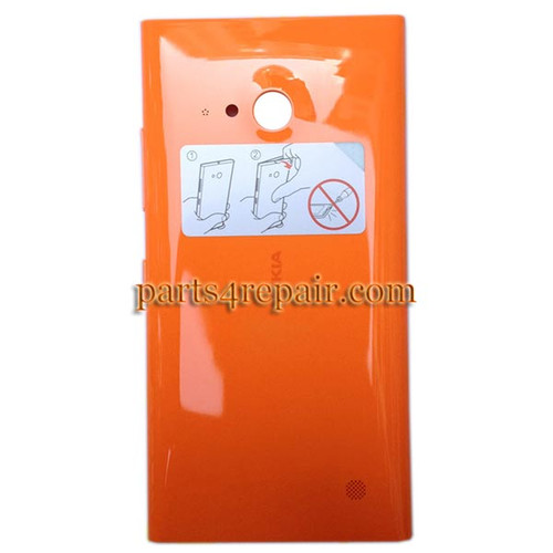 Back Cover with Wireless Charging Coil for Nokia Lumia 730 -Orange