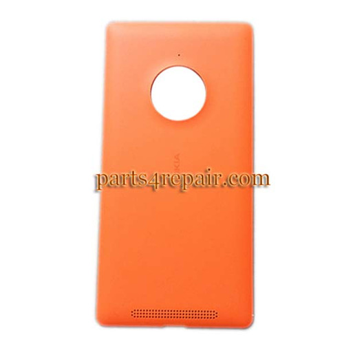 Back Cover with Wireless Charging Coil for Nokia Lumia 830 -Orange