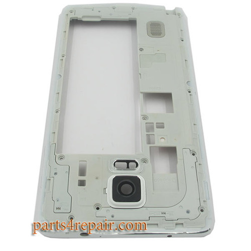 Middle Housing Cover with Side Keys for Samsung Galaxy Note 4 N910T -White