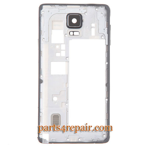 Middle Housing Cover with Side Keys for Samsung Galaxy Note 4 N910T -Black from www.parts4repair.com