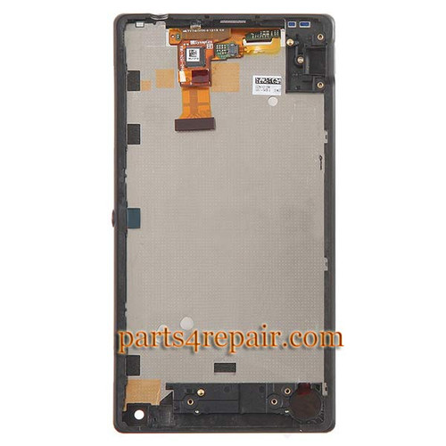 Complete Screen Assembly with Front Housing for Sony Xperia ZL L35H (Used) -Black