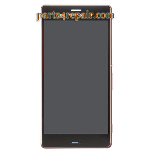 Complete Screen Assembly with Bezel for Sony Xperia Z3 -Copper (Refurbished)