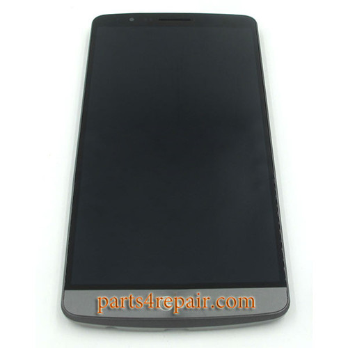 Complete Screen Assembly with Bezel for LG G3 D850 (for at&t) -Gray