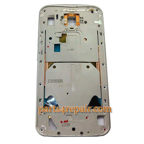 Middle Plate for Motorola Moto X 2014 (2nd Gen) -White from www.parts4repair.com