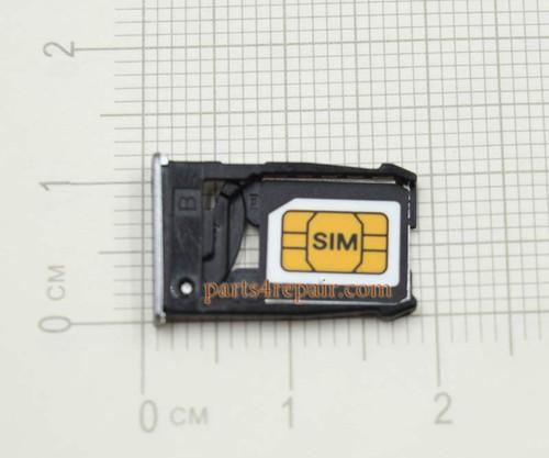 SIM Tray for Motorola Moto X2 XT1096 XT1097 XT1095 -Silver