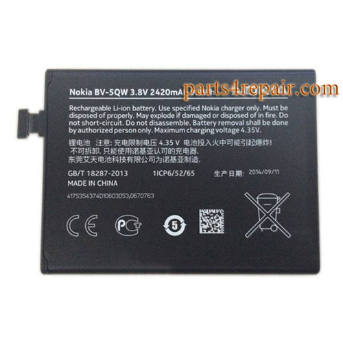 BV-5QW Built-in Battery for Nokia Lumia 930