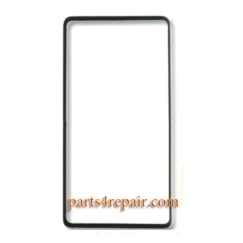 Front Bezel with Adhesive for HTC Desire 600 -Black