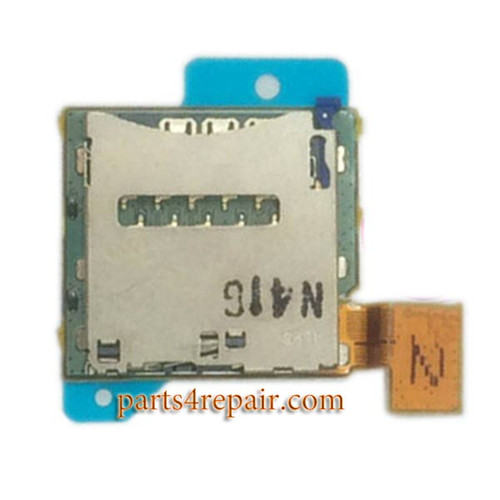 Single SIM Card Reader Flex Cable for Sony Xperia T2 Ultra from www.parts4repair.com