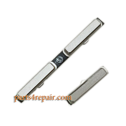 Power Button & Volume Button for HTC One mini M4 -Silver