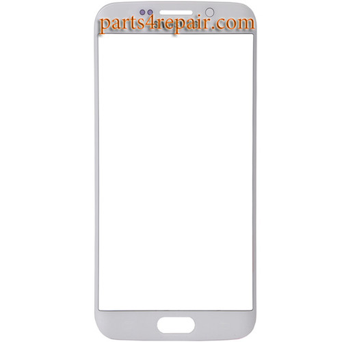 Front Glass for Samsung Galaxy S6 Edge G925 All Versions -White