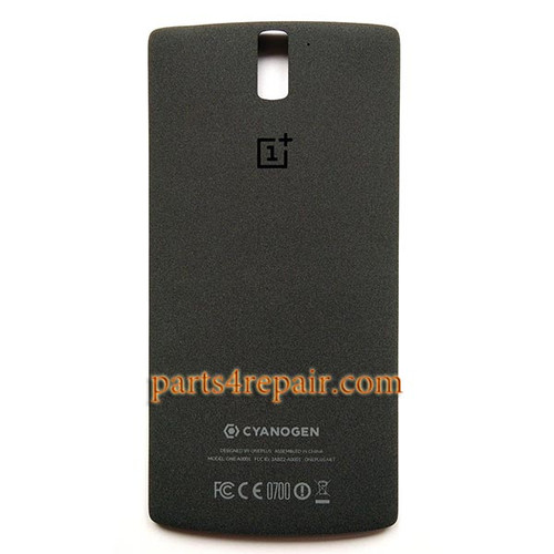 Back Cover for OnePlus One -Black from www.parts4repair.com