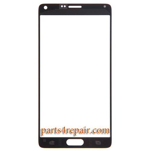 Front Glass for Samsung Galaxy Note 4 -Gold