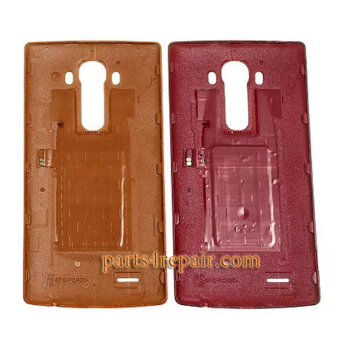 Back Cover with NFC for LG G4 -Leather Red