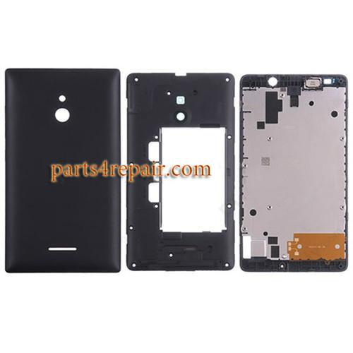 Full Housing Cover for Nokia XL -Black