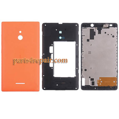 Full Housing Cover for Nokia XL -Orange
