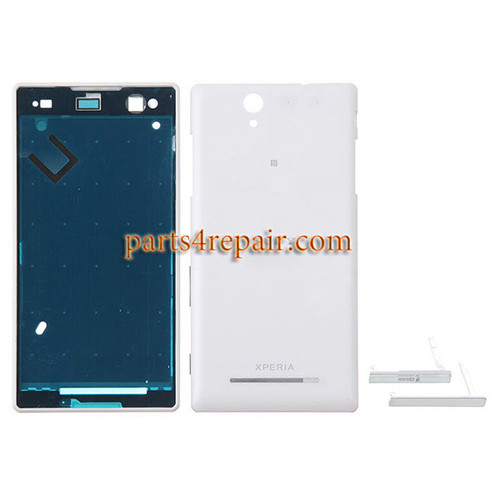 Full Housing Cover for Sony Xperia C3 S55 -White