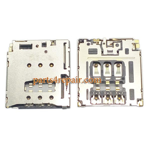 SIM Card Reader for Sony Xperia T3 from www.parts4repair.com
