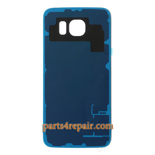 Back Cover with Adhesive for Samsung Galaxy S6 All Versions -Gold