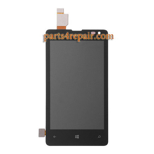 Complete Screen Assembly for Microsoft Lumia 435 from www.parts4repair.com