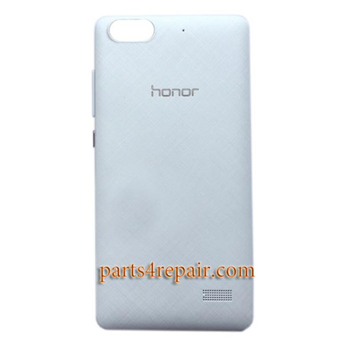 Back Cover with Side Keys for Huawei Honor 4C -White