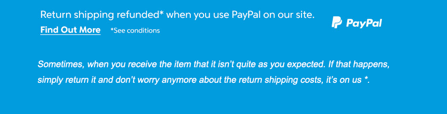 we can reimburse your return shipping costs