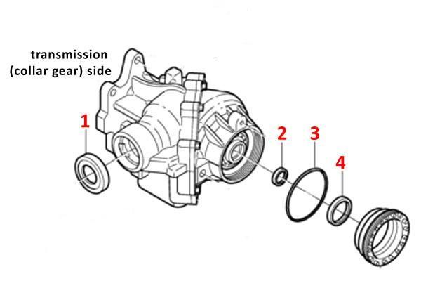 Genuine Volvo Angle Gear / Collar Sleeve Rebuild Kit, S70
