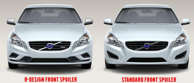 S60/V60 R-Design Front Spoiler Comparison