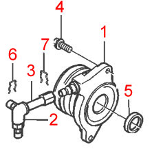 Genuine Volvo Clutch Slave Cylinder Kit, S60R/V70R 31259889